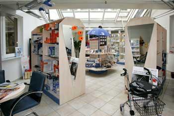 Verkaufsraum des Sanitätshauses